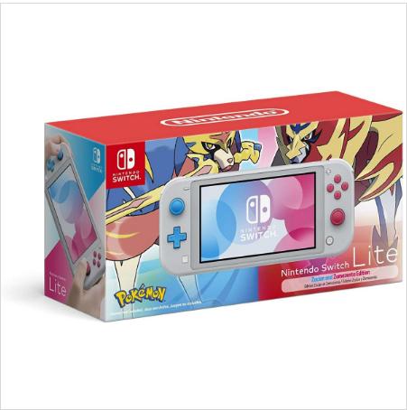 Nintendo Switch Lite - Zacian and Zamazenta Edicion con Funda Premium (Negro) y Protector de Pantalla de Vidrio Templado