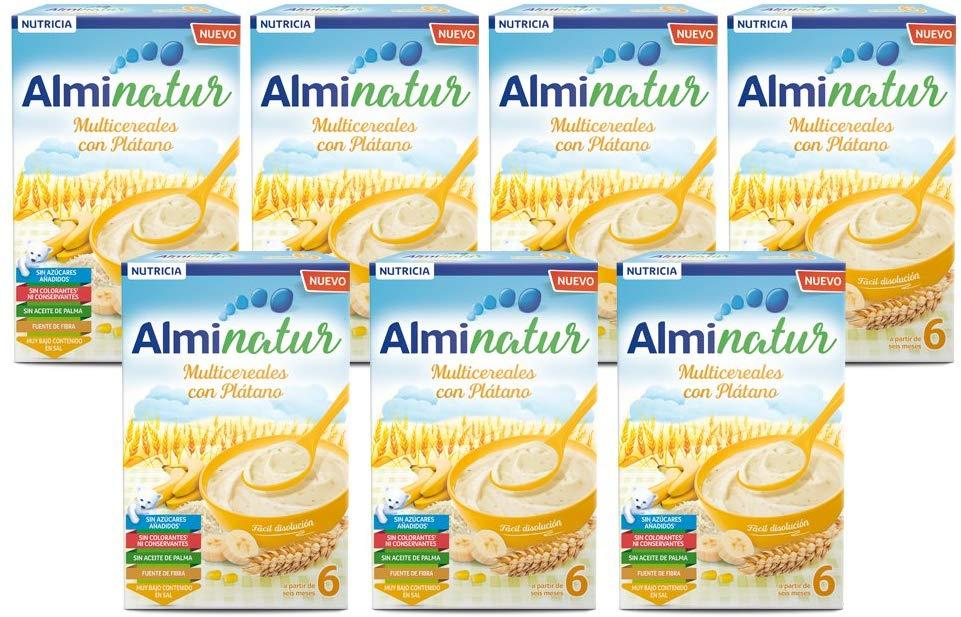 Pack de 7 paquetes de Alminatur Papilla de Multicereales con Plátano