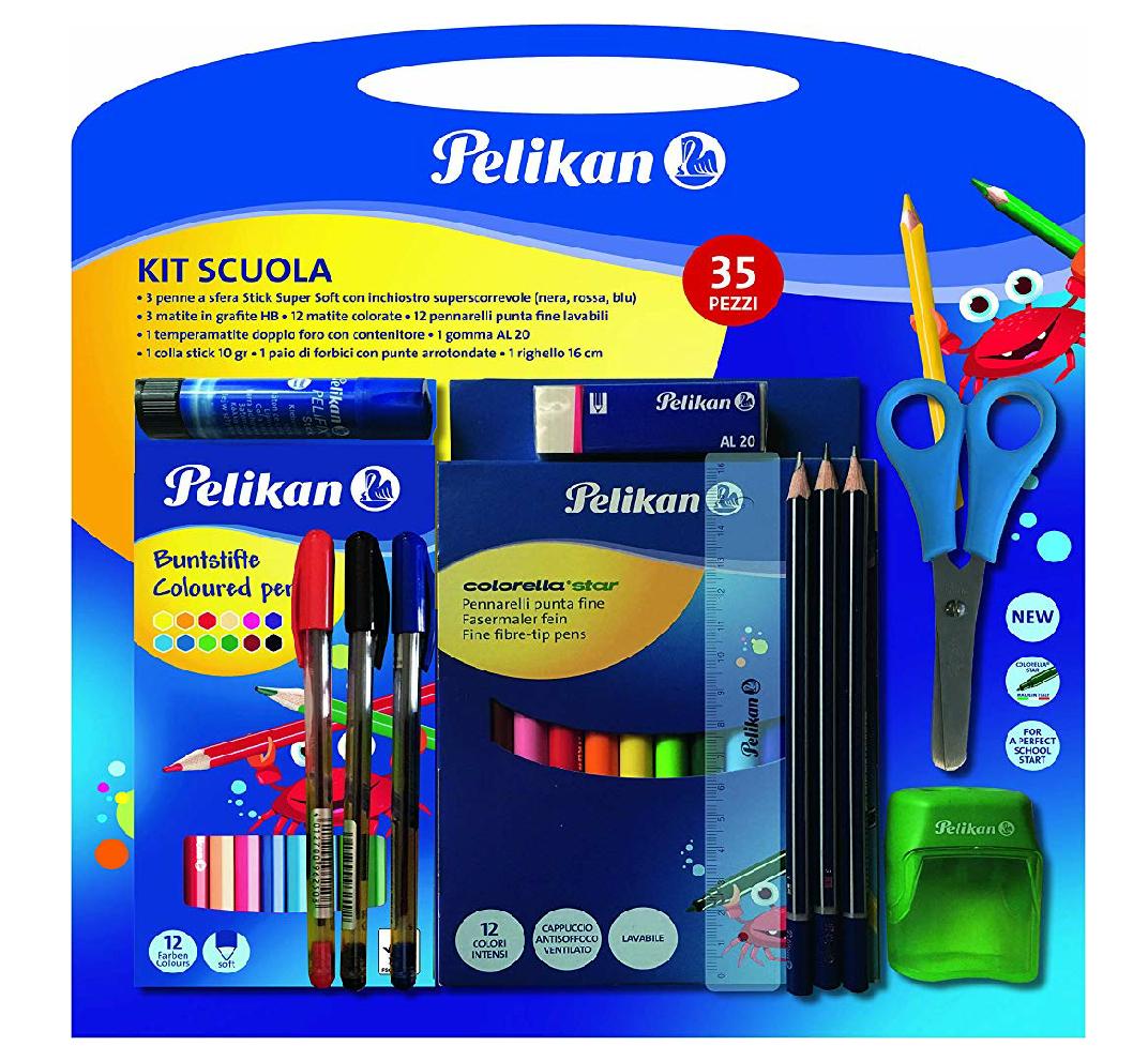 Kit escolar de Pelican con 35 piezas
