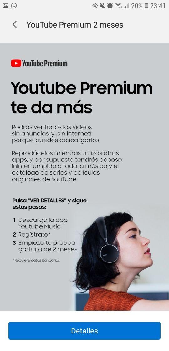 2 meses gratis de YouTube Music premium con Samsung