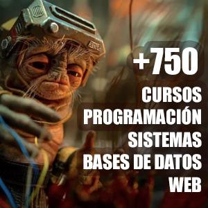 Más de 750 cursos (web, lenguajes de programación, bases de datos, sistemas, etc)