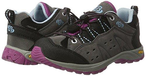 TALLA 39 - Bruetting Mount Bona Low Kids - Zapatillas de Trekking y Senderismo para Niñas