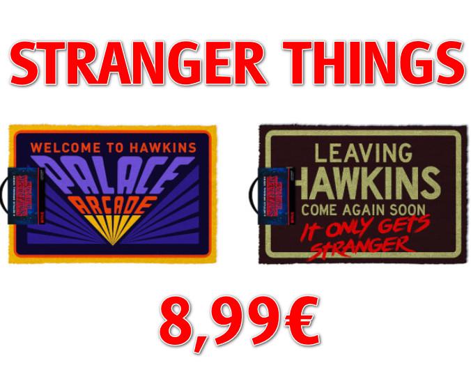 Felpudos de Fibra de Coco de Stranger Things (Welcome to Hawkins y Leaving Hawkins) por sólo 8,99€