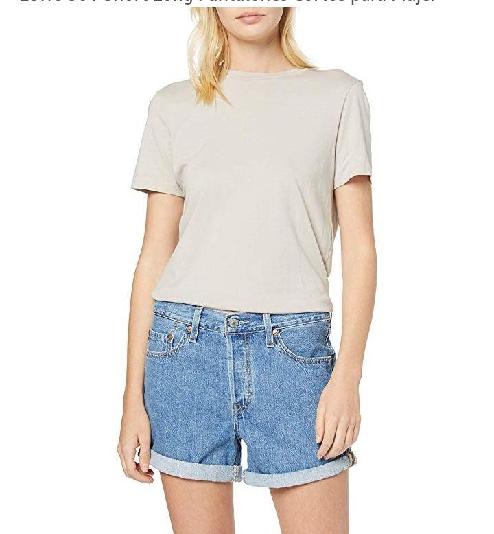 Levi's 501 Short Long Pantalones Cortos para Mujer 23