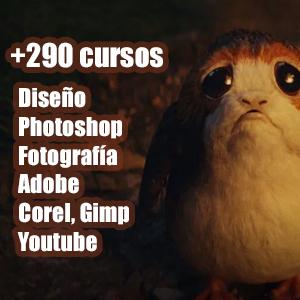 +290 cursos Diseño, Photoshop, Fotografía, Videos (Udemy, Español, Inglés)