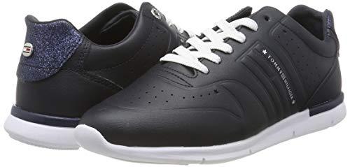 TOMMY HILFIGER Glitter Detail Light Sneaker, Zapatillas para Mujer (Color Negro, Talla 41)