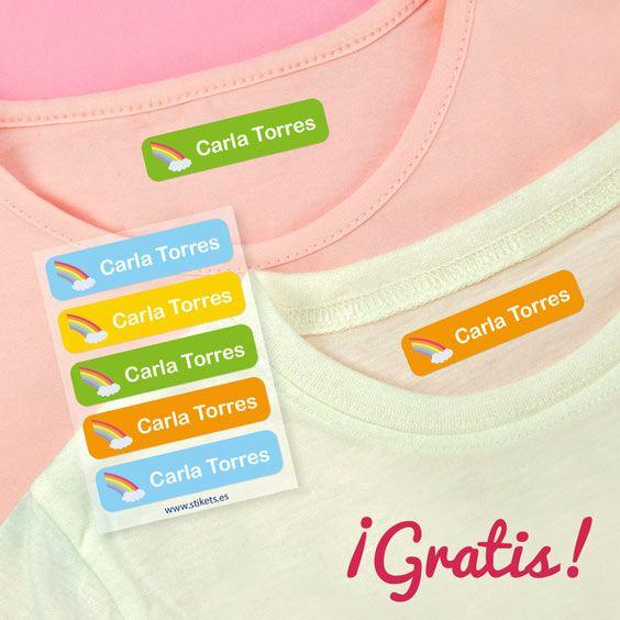 5 etiquetas para ropa GRATIS (0.49€ Envío)