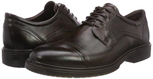 Ecco Lisbon, Zapatos de Cordones Derby para Hombre, Marrón (Cocoa Brown 1482), 47 EU