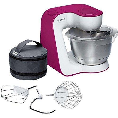 Bosch MUM5 StartLine - Robot de cocina (3,9 L, Rosa, Blanco, Acero inoxidable, 900 W)