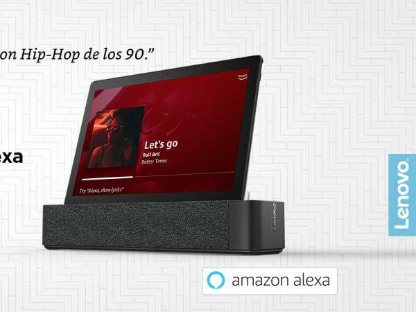 "Tablet Lenovo M10 10"" FullHD 3GB 32GB con Amazon Alexa + Base con altavoz"
