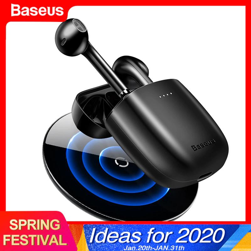 Auriculares inalámbricos Baseus W04 TWS BT 5.0 USB-C y opción de carga inalámbrica