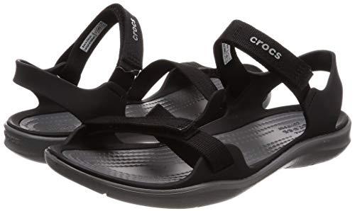 Crocs - Sandalias de verano con punta abierta para mujer supercómodas