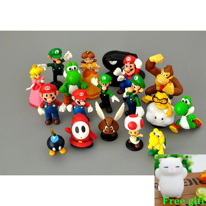 Lote de 18 figuras de Super Mario Bros