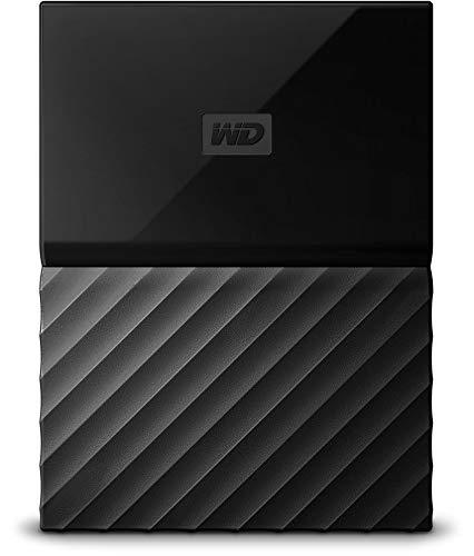 WD My Passport - Disco Duro Portátil de 3 TB y Software de Copia de Seguridad Automática, Negro