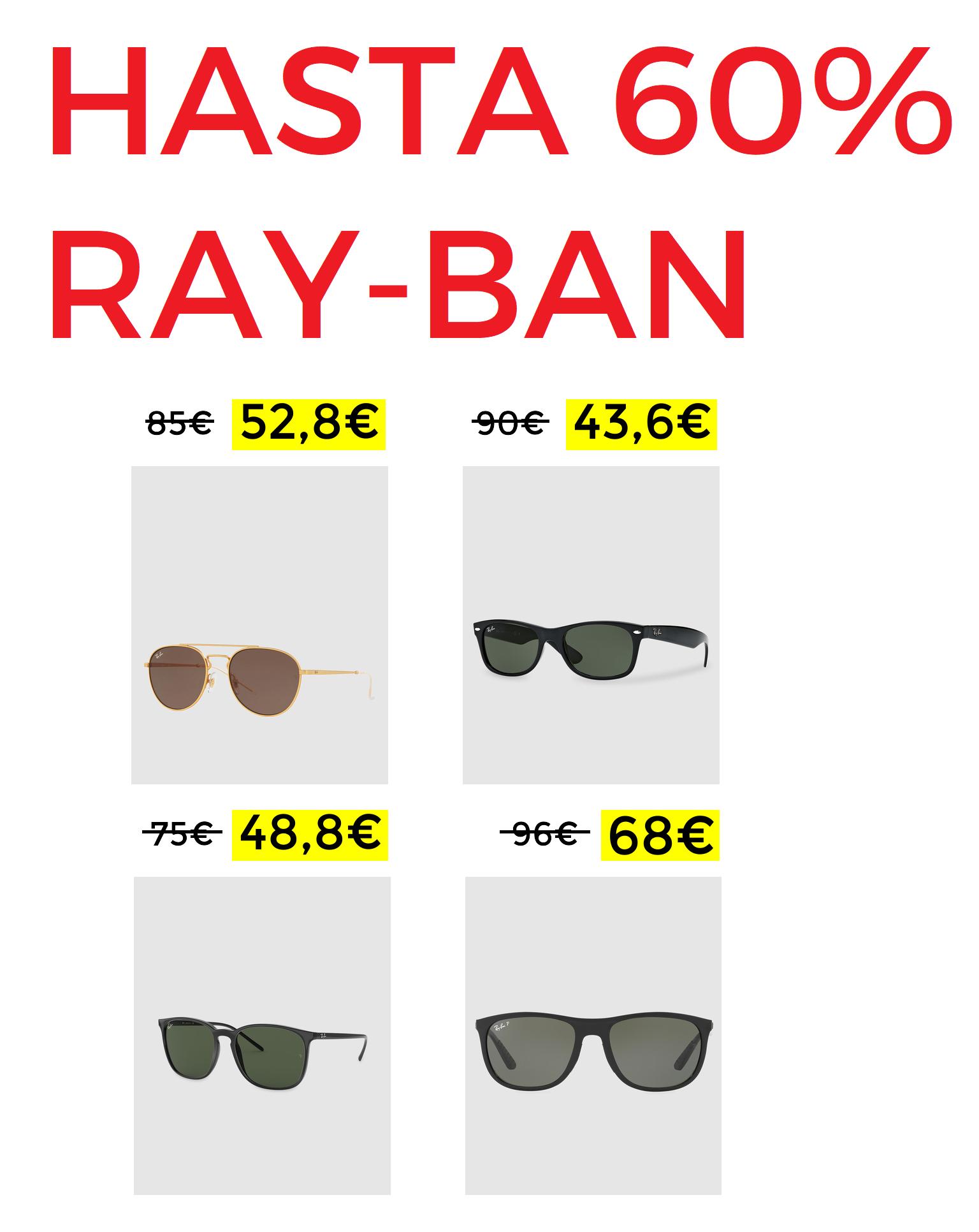 Descuentos en Ray-Ban de hasta 60%