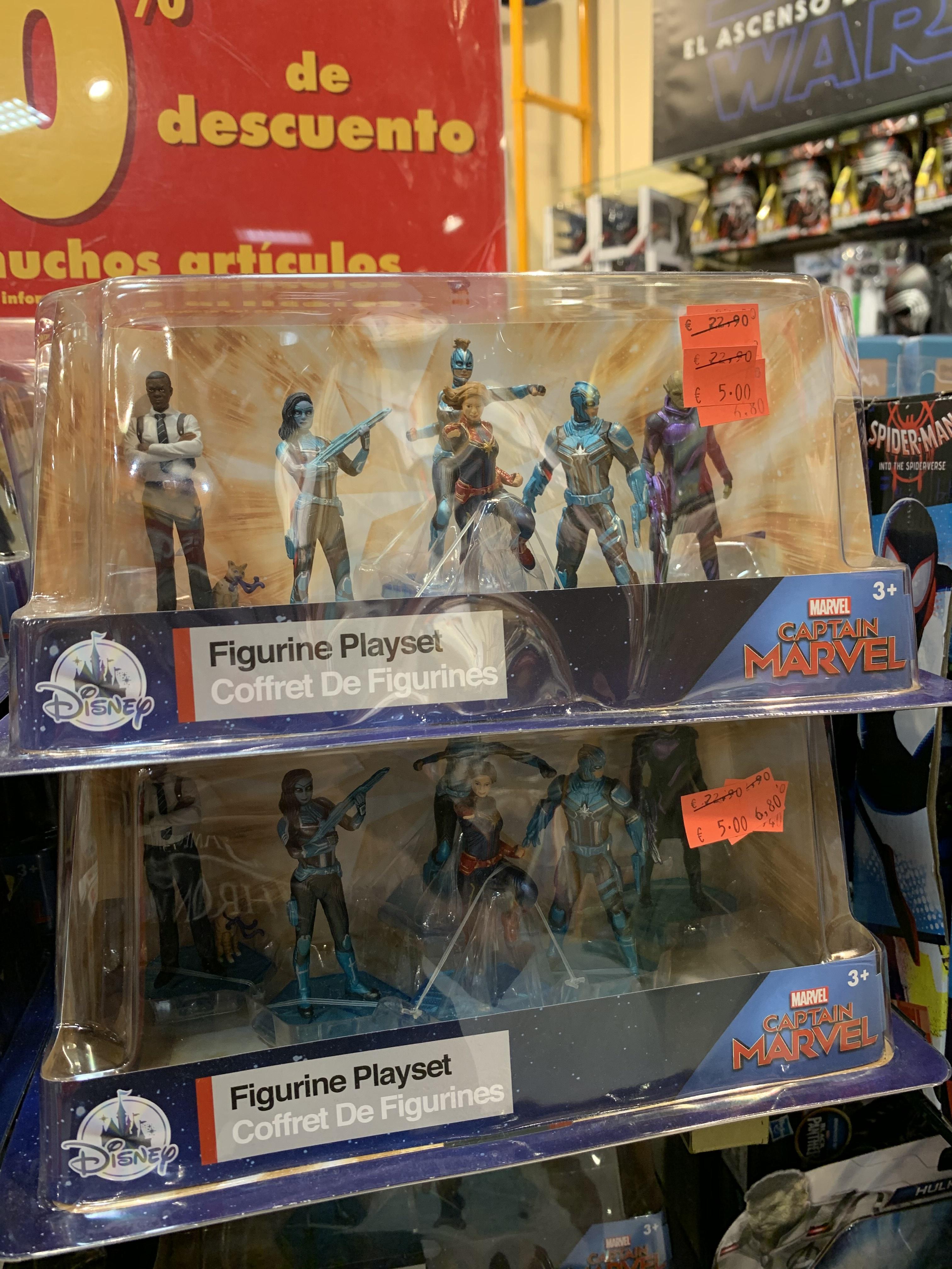 "Set 7 figuras MARVEL ""Capitana Marvel"" (Disney Store Murcia)"