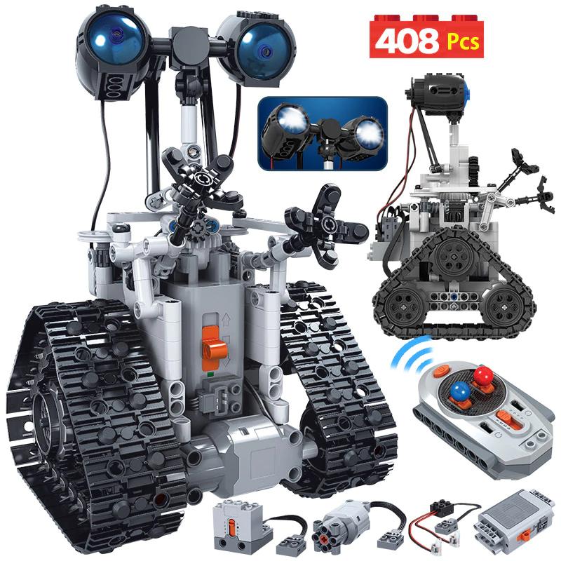 Robot teledirigido de 408 piezas tipo Lego. Se parece a Wall-e
