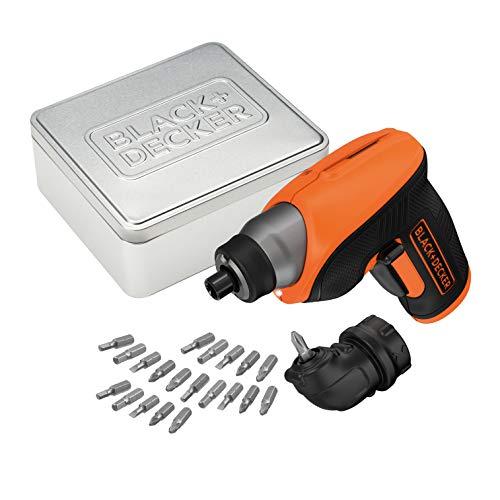 Atornillador BLACK+DECKER + batería 1.5Ah + 20 brocas y caja de almacenamiento