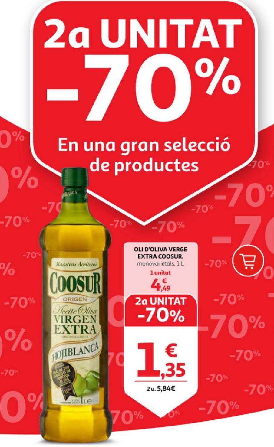 -70% en la segunda unidad - Coosur aceite de oliva virgen extra Hojiblanca . 2° unidad 1.35€