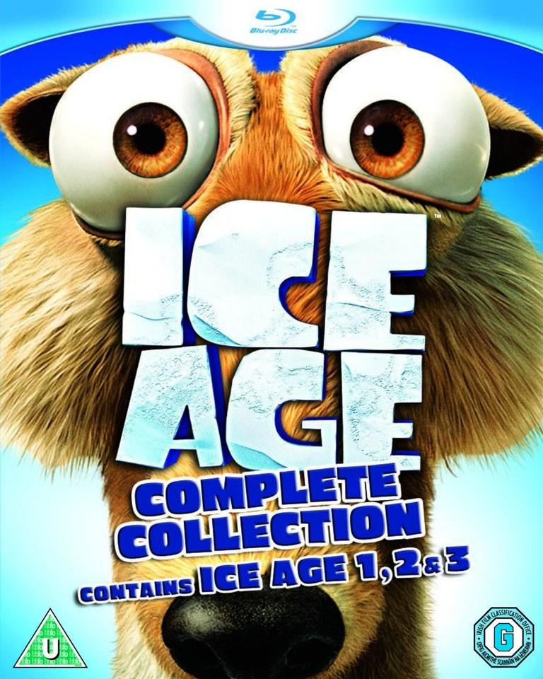 BLU-RAY Pack x3 ICE AGE 1, ICE AGE 2: EL DESHIELO, ICE AGE 3: EL ORÍGEN DE LOS DINOSAURIOS