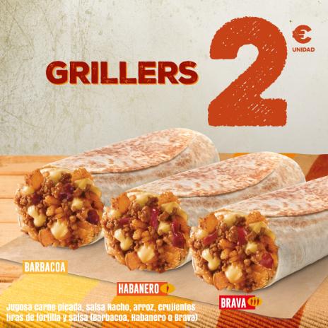 Vuelven los Grillers!! barbacoa, habanero y brava por 2€ en Taco Bell
