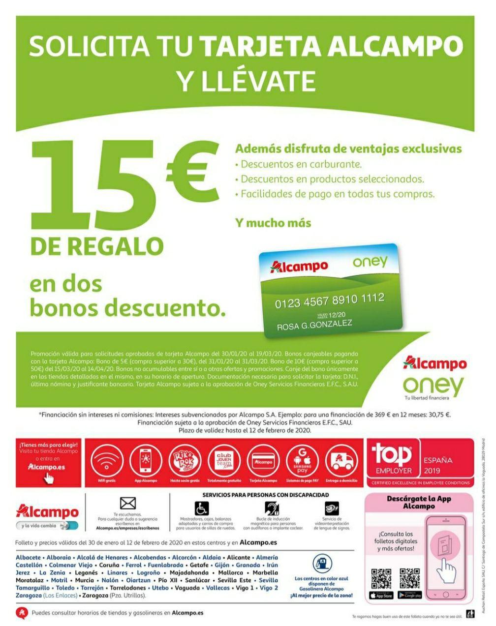 15€ Tarjeta Alcampo