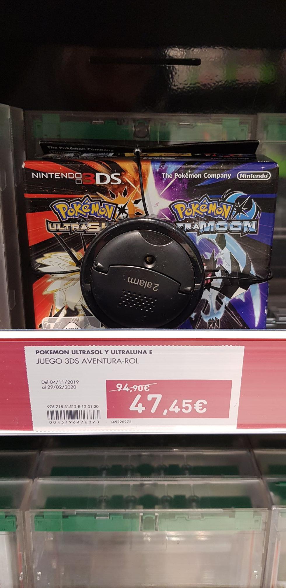 Pokemon Ultrasol/Ultraluna Dual Edition El Corte Inglés (A Coruña)