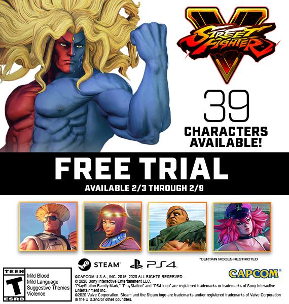 Street Fighter V: Gratis del 3 al 9 en PS4 y PC