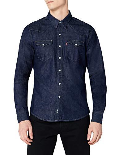 Levi's L/S Barstow Western Shirt, Camisa Casual de Manga Larga Para Hombre talla XS.