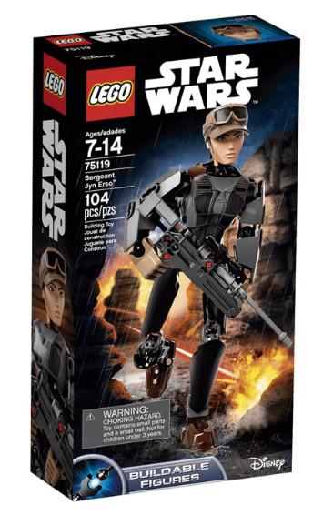LEGO Star Wars: Sargento Jyn Erso (24 cm altura y 104 piezas)