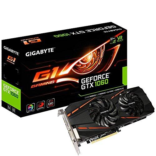 Gigabyte GeForce GTX 1060 G1 Gaming 6G (Rev. 2.0) GeForce GTX 1060 6GB GDDR5 - Tarjeta gráfica