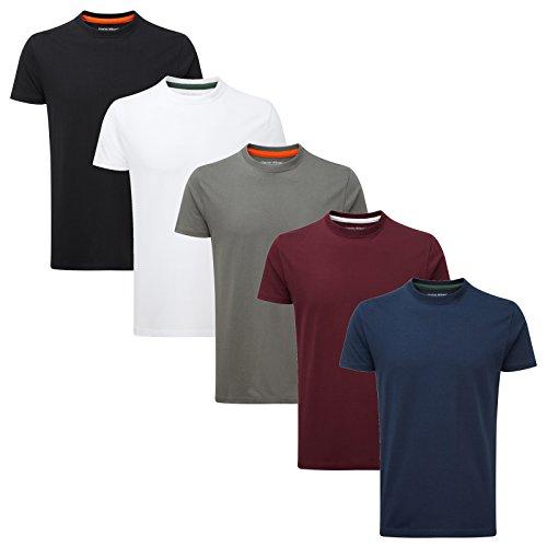 Charles Wilson Paquete 5 Camisetas Cuello Redondo Lisas en 25 colores.