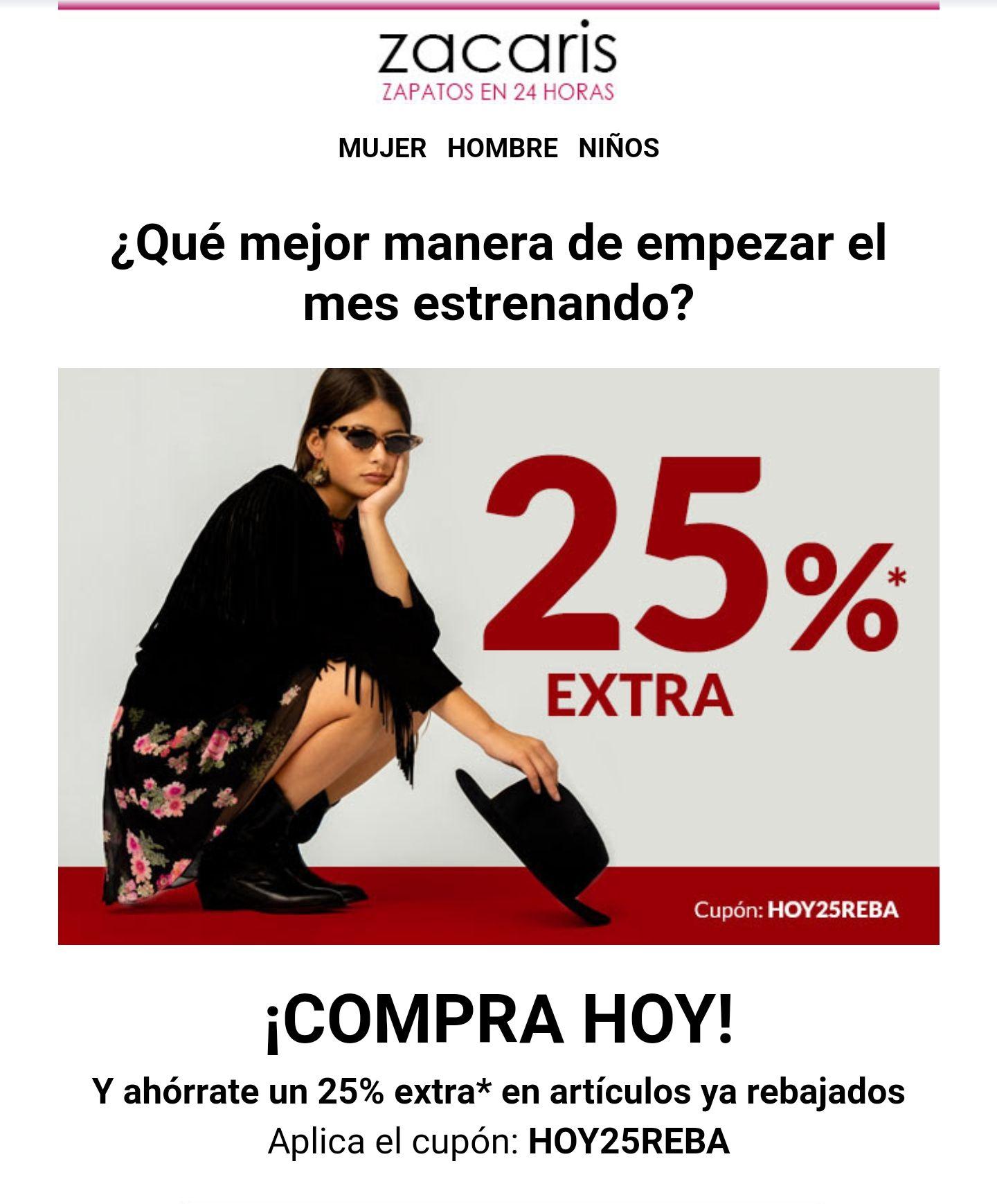 DESCUENTO 25% EXTRA SOLO HOY - Zacaris