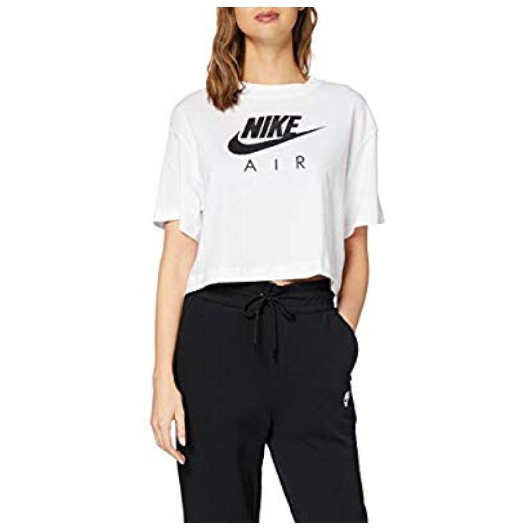 TALLA L y XL - COLOR BLANCO - Nike W NSW Air Top SS T-Shirt, Mujer