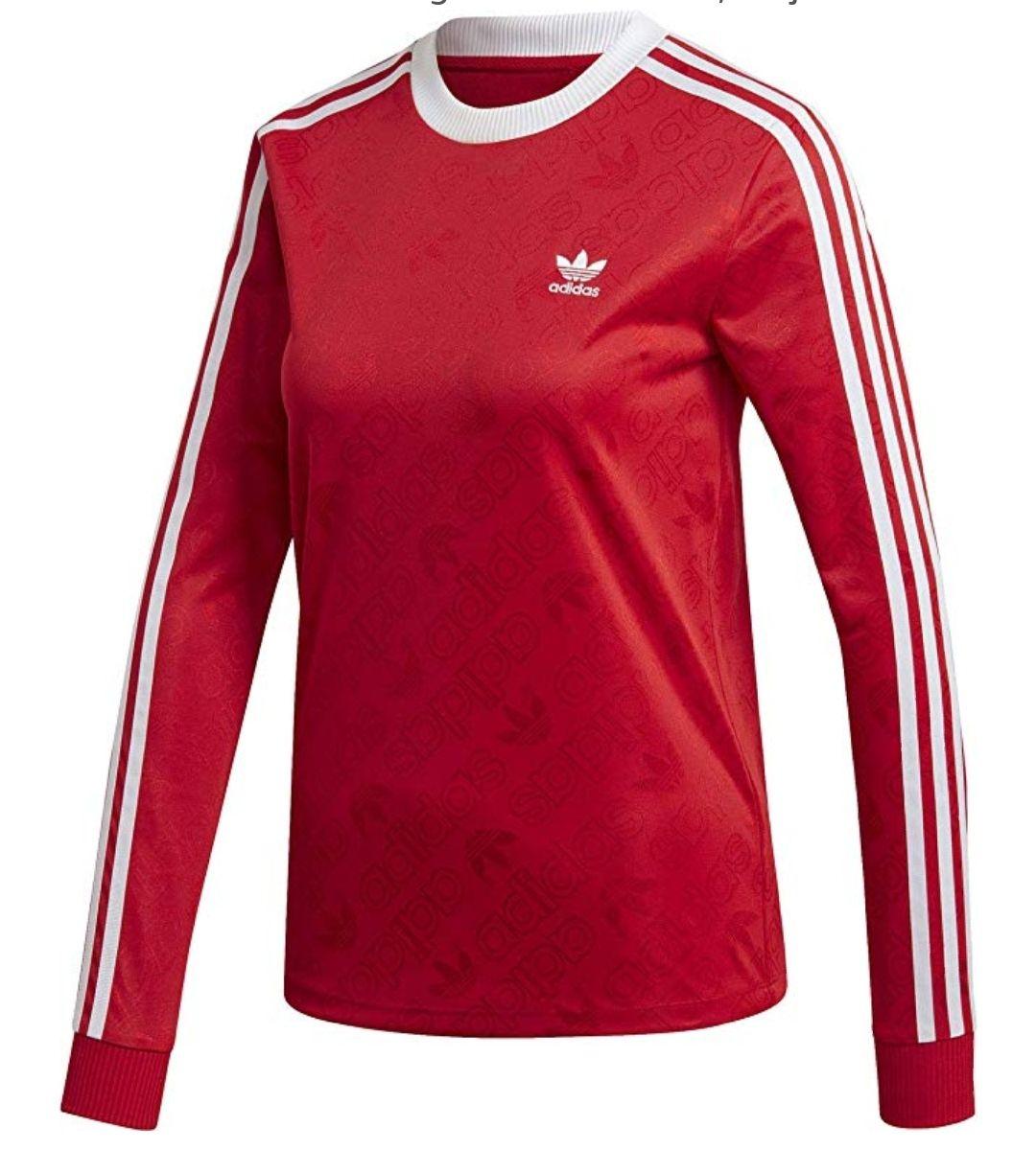 TALLA 40 - adidas 3 Str LS tee Long Sleeved T-Shirt, Mujer