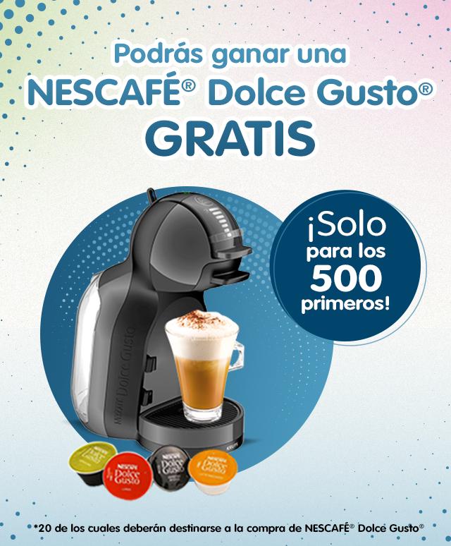 500 Dolce Gusto Mini Me gratis por compras superiores a 100 euros en productos Nestlé