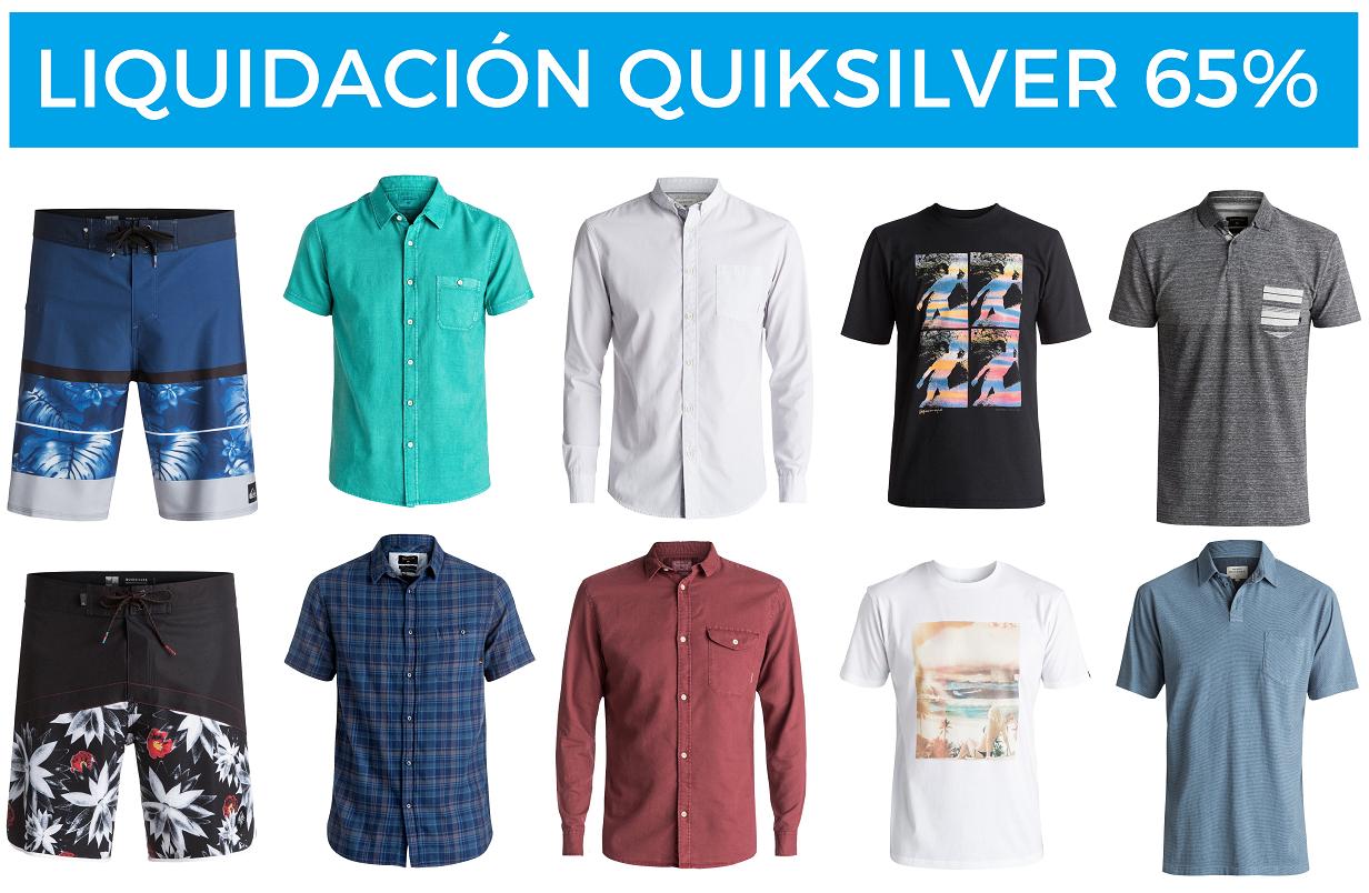 Liquidación 65% en ropa Quiksilver