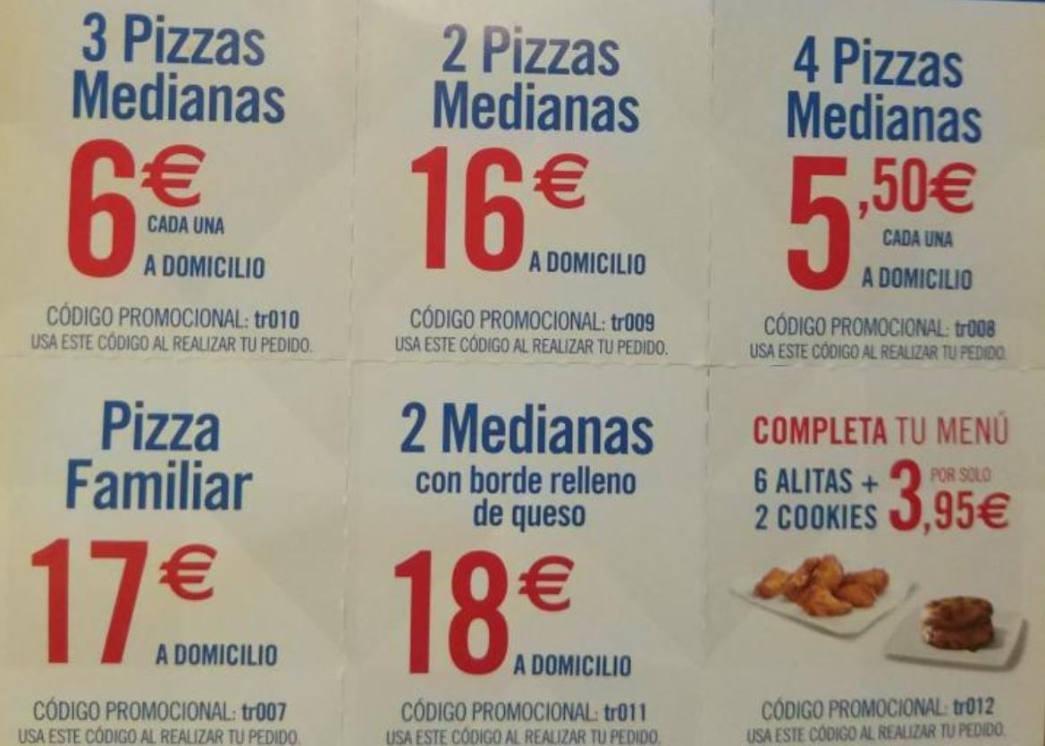Recopilación descuentos DOMINOS PIZZA hasta 28 de Mayo