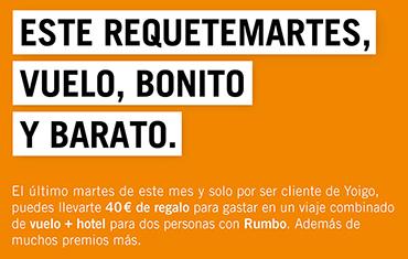 Este requetemartes llevate 40€ para vuelo + hotel en Rumbo