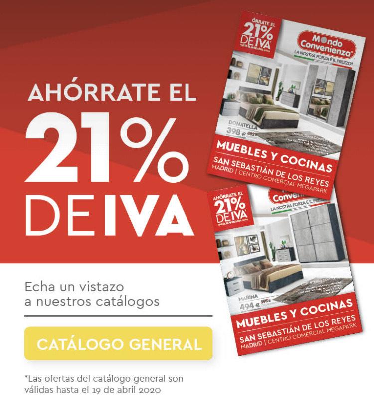 AHÓRRATE el 21% IVA en Mondo Convenienza !!