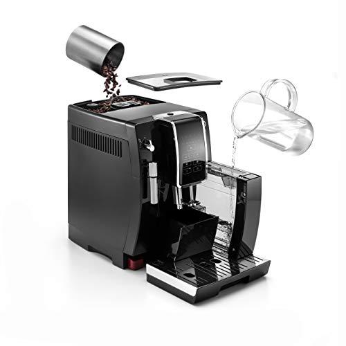 De'longhi Dinamica Ecam350.15.B - Cafetera superautomática, 1450w, panel control intuitivo táctil lcd
