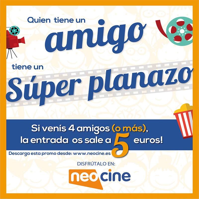 Cine por 5€ si vas con 3 personas (Murcia y Castellón) Neocine