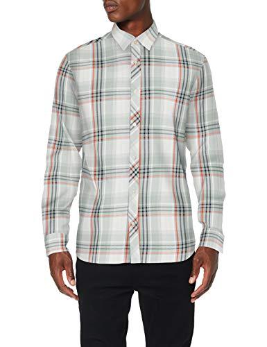 JACK & JONES Jcofin Shirt LS Plain Camisa para Hombre en 2 colores.