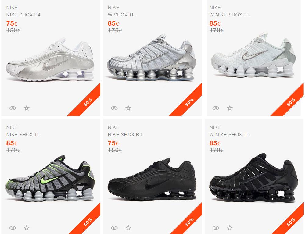 Nike Shox TL al 50% en SVD