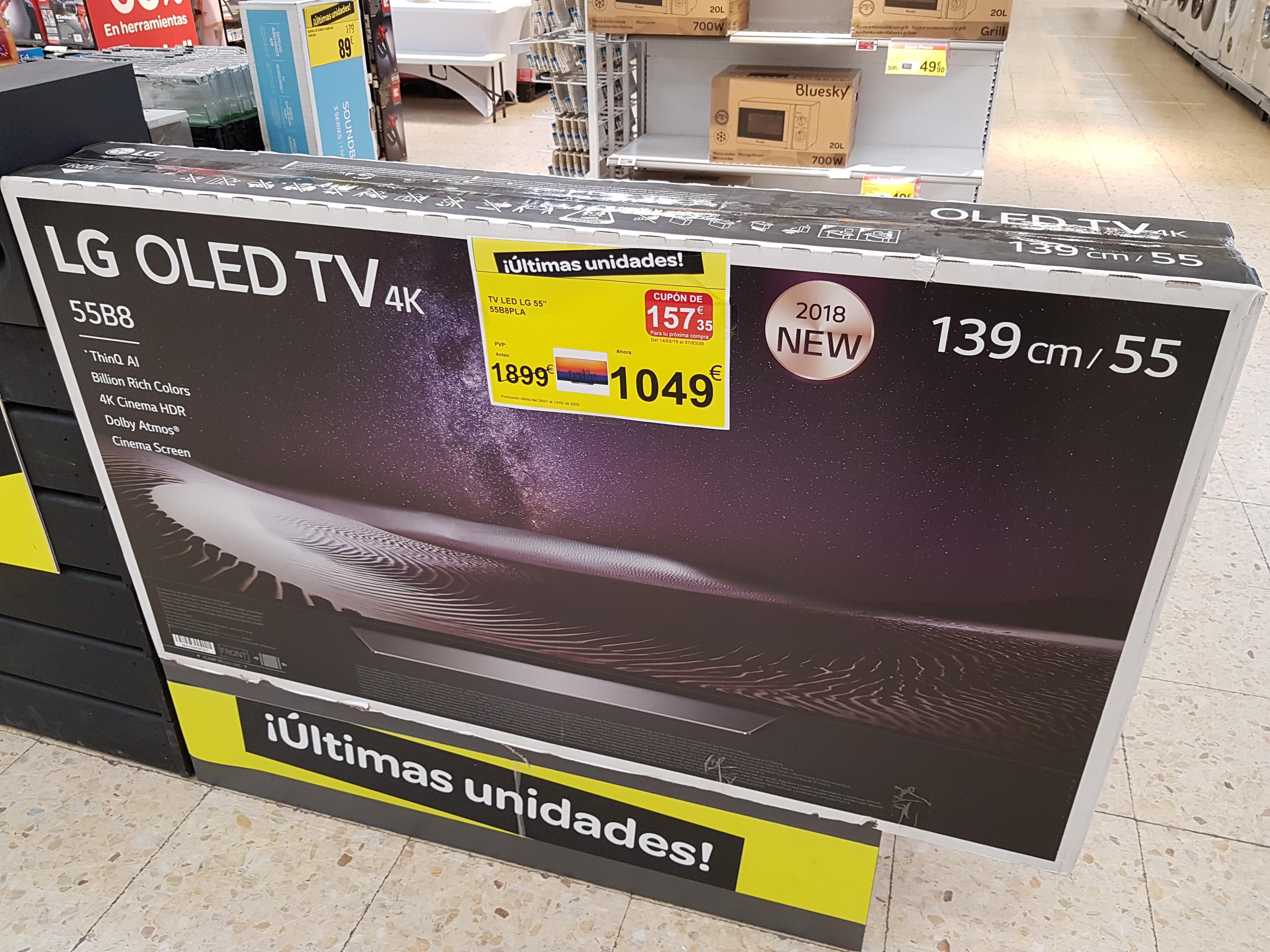 Televisor LG Oled 55B8 por 1049€ y regalo cupón de 157€ en Carrefour Peñacastillo