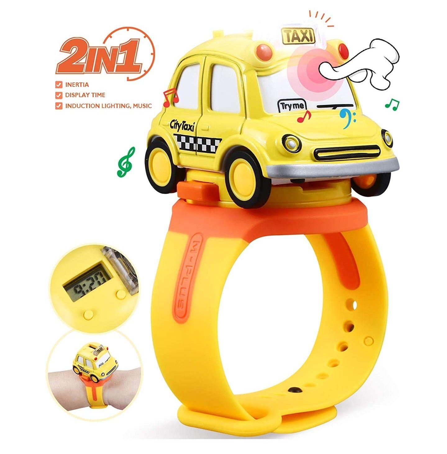 Coche de juguete 2 en 1 (coche y reloj)