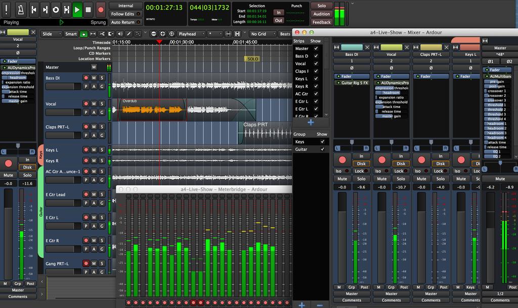 Ardour - Graba, edita y mezcla audio por 1$ al mes. Para Linux, Windows y macOS