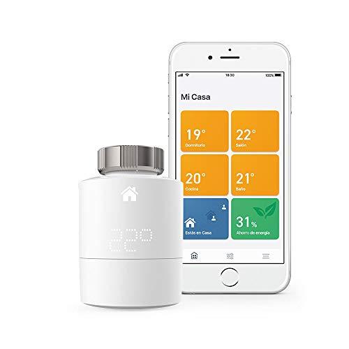 Tado° Cabezales Termostáticos Inteligentes Kit de Inicio V3+ Control inteligente de calefacción comp. Alexa, Google mini y Apple homekit
