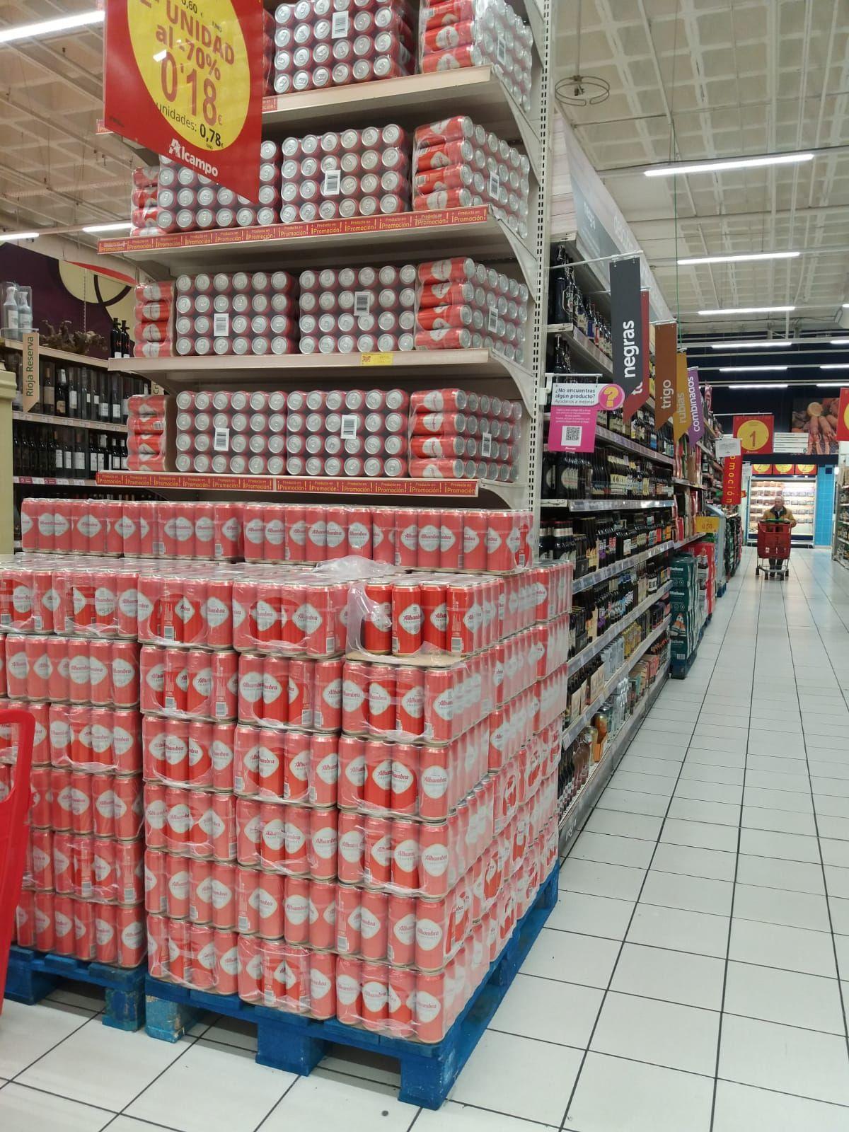 Cerveza Alhambra 50 cl 2a unidad al 70%