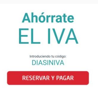 Día sin IVA en los parkings de AENA (reserva el día 8/02)